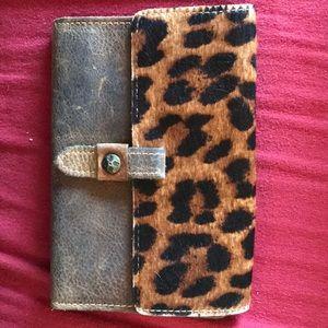 Patricia Nash large leather/animal print  wallet